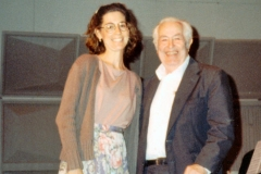 With Julius Baker, 1988